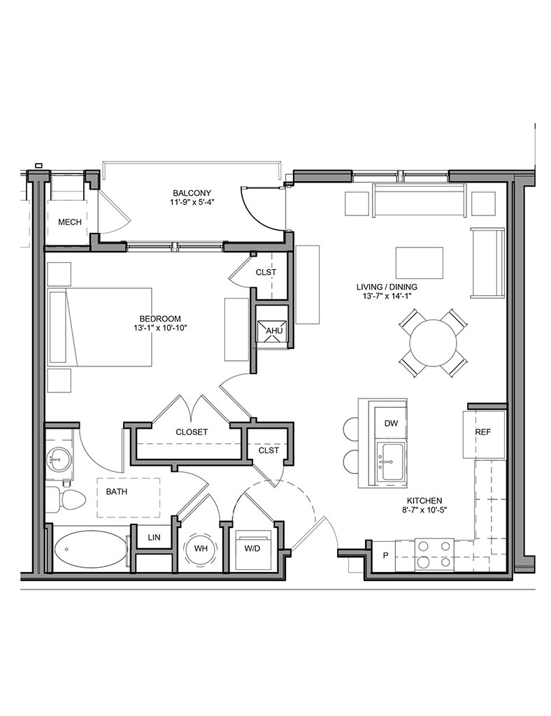 Station at Newtown Square - Floor Plan - Unit 1B-A
