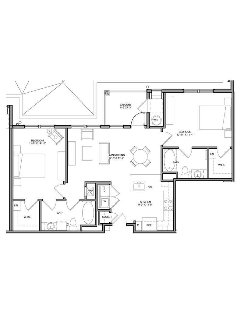 Station at Newtown Square - Floor Plan - Unit 2B-A