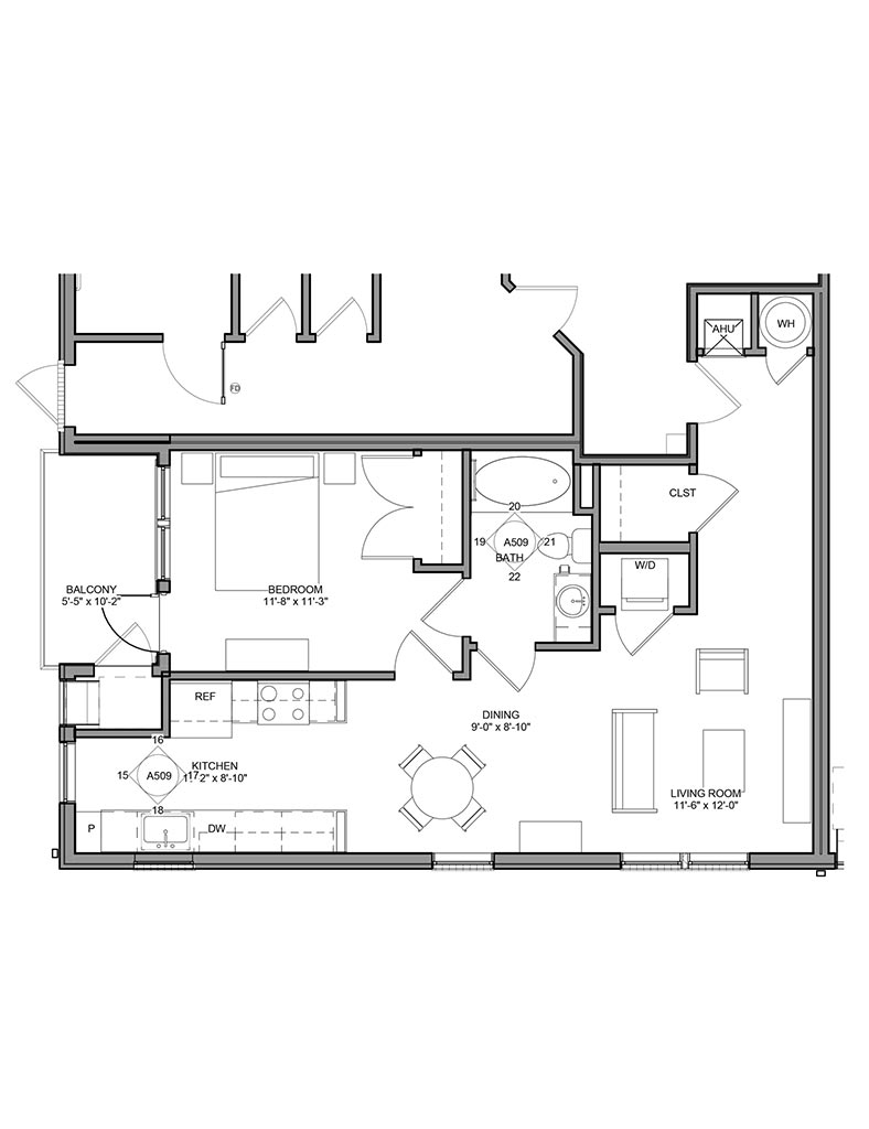 Station at Newtown Square - Floor Plan - Unit 3BA Pool